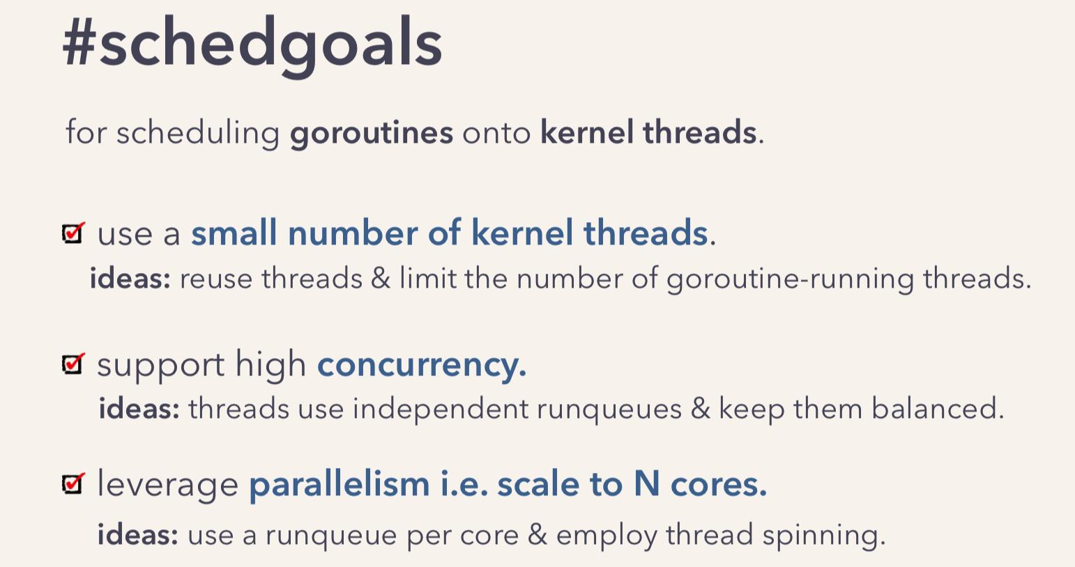 Go scheduler goals